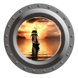 Homefind  3D High Definition Faux Submarine Porthole View Sh
