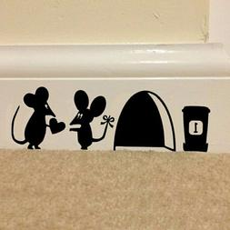 3D Funny Mouse Hole Wall Stickers Decals Bedroom Wall Art Wa