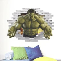 3D Hulk Wall Sticker for Boys Bedroom Playroom, Wall Decal,