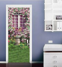 3D Many flowers 98 Door Wall Mural Photo Wall Sticker Decal