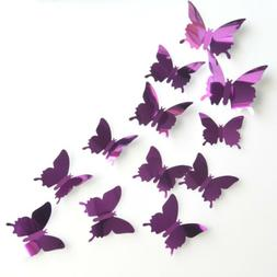 3D Mirror Wall Stickers Sitting Room Butterfly Wall Decals 1