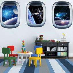 3D Outer Space Planet Wall Stickers Home Decor Mural Art Wal