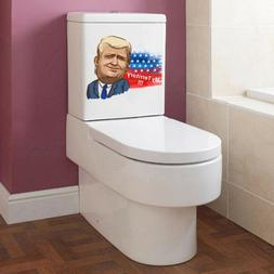 3D President Donald Trump toilet seat wall sticker art paper
