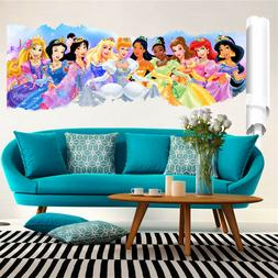 3D Princess Wall Stickers Decor Cartoon Wall Paper Decals Po