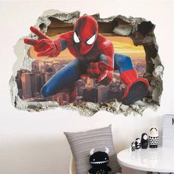 3D Spiderman Wall Sticker Wall Decal Wall Decoration for Boy