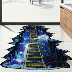 3D Star Series Floor Wall Sticker Removable Mural Decals Vin
