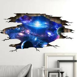 3D Universe Galaxy Wall Stickers PVC Decals Home Decor for C