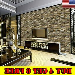 3D Wall Paper Brick Stone Rustic Effect Self-adhesive Wall S