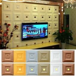PE Foam Wallpaper 3D Self-Adhesive Wall Decor Decals for TV