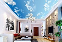 3D White Clouds Sky 449 Ceiling Wall Paper Wall Print Decal