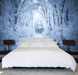 3D White Snow Forest 36 Wall Paper Print Decal Deco Indoor W