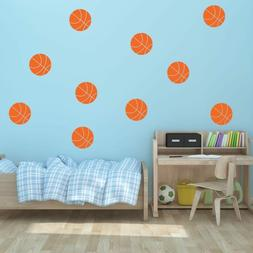 "5"" Basketball Vinyl Wall Decals - Pick Color - Sports Decal"