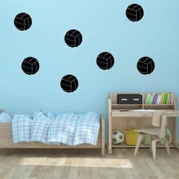"""5"""" Volleyball Vinyl Wall Decals - Pick Color - Sports Decal"""