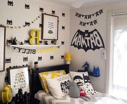 40Pcs Superhero Batman Mask Wall Sticker Boys Room Wall Deca