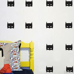 42 Super Hero Batman Mask Removable wall stickers for Kids /