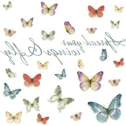 5 in. x 11.5 in. Lisa Audit Butterfly Quote 28-Piece Peel an