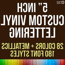 5 Inch Custom Vinyl Lettering Numbers Transfer Decal Sticker