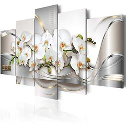 5 Panel Butterfly Orchid Flowers Canvas Print Wall Art Paint