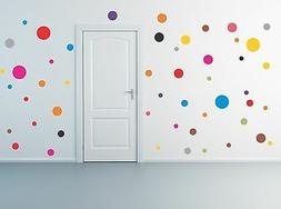 50 Polka Dot Wall Decals removable stickers decor mural nurs