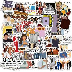 50pcs TV Show Friends Stickers for Laptop Luggage Water Bott