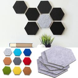 5pcs Felt Hexagon Colorful Wall Sticker Decorative Sheet Mur
