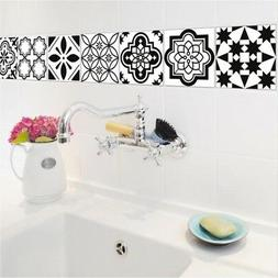5x Black White Waterproof Tile Stickers Wall Stickers Decals