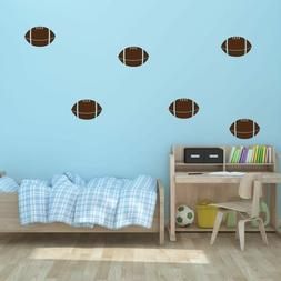 "5"" x 3.3"" Football Vinyl Wall Decals - Sports Decal - Kid's"