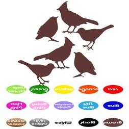 6 Bird Animal Decals vinyl wall decals stickers home window