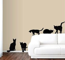 6 Cats Wall Decals in Life Size!