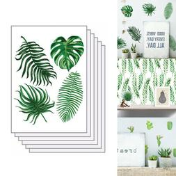 6 Sheets/Lot Refrigerator Wall Sticker Cactus Leaves Green P