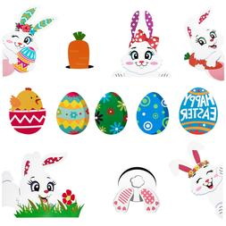 UNOMOR 6 Sheets of Durable Easter Carrots Party Decor for Fu