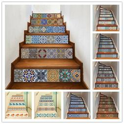 6Pcs Stair Staircase Riser Decals Tiles Wall Stickers Wallpa