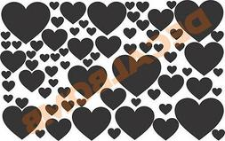 """70+ POLKA DOT """" HEART """" Wall Decals / stickers - 9 COLORS be"""