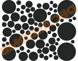 70+ POLKA DOT Wall Decals / stickers - Choose color 9 COLORS
