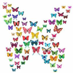 72pcs 3D Butterfly Wall Stickers Home Kids Living Room Decor
