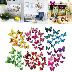 72pcs 3D Butterfly Wall Stickers Removable Mural Decals DIY