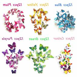 72pcs 3d butterfly wall stickers home kids