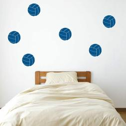 """4"""" Volleyball Vinyl Wall Decals - Pick Color - Sports Decal"""