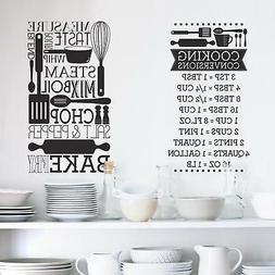 Cooking Conversions Peel and Stick Wall Decals