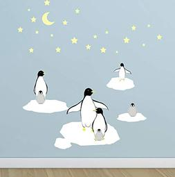 Create-A-Mural : Penguin Stars & Icebergs Wall Decals ~Kids