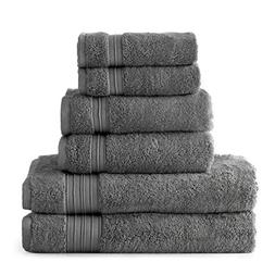 HygroSoft Fast Drying and Absorbent 100% Cotton 6-piece Towe