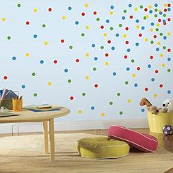 Primary Confetti Dots Peel and Stick Wall Decal