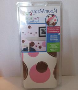 RoomMates RMK1245SCS Just Dots Pink and Brown Peel & Stick W
