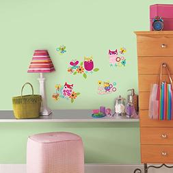 RoomMates RMK2722SCS Zutano Owls Peel and Stick Wall Decals