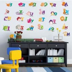 ABC Alphabets Teaching Cartoon Animal Wall Decal Vinyl Stick