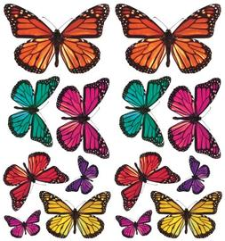 RoomMates ACC0003B3D Butterfly 3-D Wall Decals, 26 Count