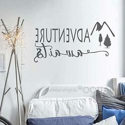 BATTOO Adventure Awaits Wall Decal Stickers - Adventure Quot