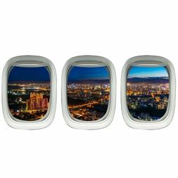 Airplane Wall Decals For Kids Rooms, Plane Window Sticker -