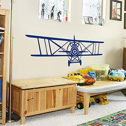 Airplane Wall Decals, Set of Three Planes, Biplane and Singl