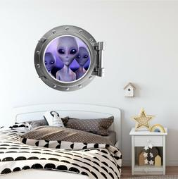 Aliens #3 PortScape Porthole Window Wall Decal Graphic Fabri